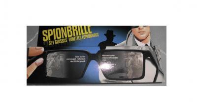 Ra158707 schwarz Spionagebrille Detektivkostüm - 1