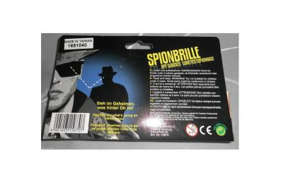 Ra158707 schwarz Spionagebrille Detektivkostüm - 2