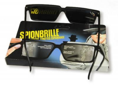 Ra158707 schwarz Spionagebrille Detektivkostüm - 3