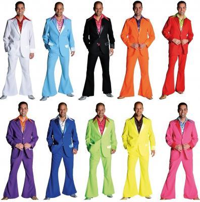 M207201 schwarz Herren Disco Anzug-Kostüm - 1