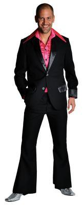 M207201-7 rot Herren Disco Anzug-Kostüm - 8