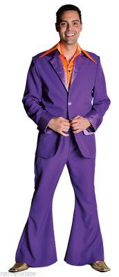 M207201-14 dunkelblau Herren Disco Anzug-Kostüm - 4