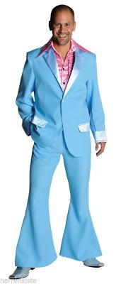 M207201-14 dunkelblau Herren Disco Anzug-Kostüm - 5