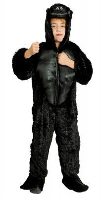K332540 schwarz Kinder Damen Herren Gorilla Kostüm Affen Overall - 2
