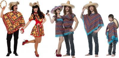L3302090 Herren Poncho Mexikaner-Kostüm - 2