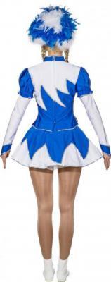 O9889 blau-weiß Damen de Luxe Mariechenkostüm - 2
