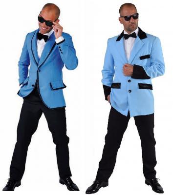 M214249-139-A blau Herren Sakko Jacket Discojacket Partyjacket - 1