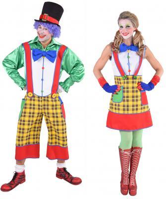 M217179 Damen Clownkleid Kasperkleid Zirkuskleid - 1