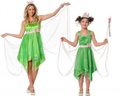 L3100970 grün Kinder Feen Kostüm Elfenkleid - 1