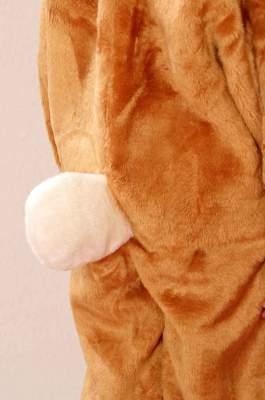 O5066 braun-weiß Kinder Junge Mädchen Hase Hasen Kostüm Overall - 1