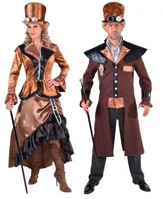M217246 Herren Steampunk Kostüm-Anzug Bronze - 2