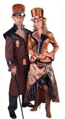 M217246 Herren Steampunk Kostüm-Anzug Bronze - 3