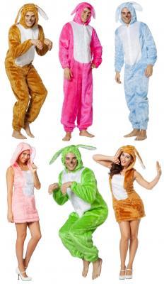 L3300053 neon grün Herren Hase Hasen-Overall Hasen-Kostüm Plüsch - 1