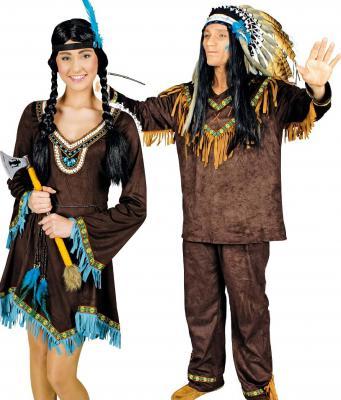 K31250689 braun Herren Indianer Kostüm Häuptling Indianerhäuptling - 3