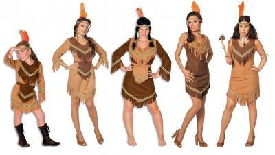 L3100840 Mädchen Indianerin Indianer-Kostüm - 1
