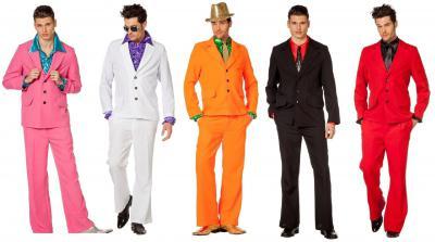 L3300312 orange Herren Anzug 70er 80er Jahre - 1