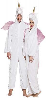 B88060 weiß-rosa Kinder Junge Mädchen Damen Herren Einhorn Overall-Kostüm - 2