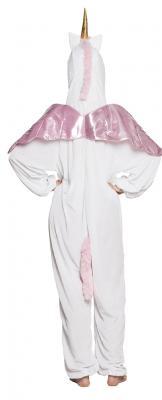 B88060 weiß-rosa Kinder Junge Mädchen Damen Herren Einhorn Overall-Kostüm - 4