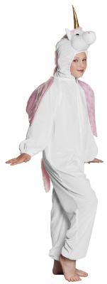 B88060 weiß-rosa Kinder Junge Mädchen Damen Herren Einhorn Overall-Kostüm - 5
