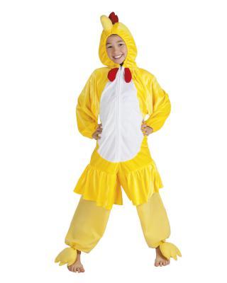 B88004 gelb Kinder Junge Mädchen Damen Herren Huhn Overall-Kostüm - 1