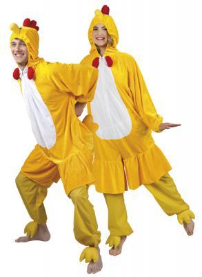 B88004 gelb Kinder Junge Mädchen Damen Herren Huhn Overall-Kostüm - 2