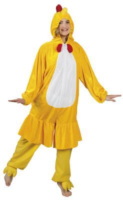 B88004 gelb Kinder Junge Mädchen Damen Herren Huhn Overall-Kostüm - 3