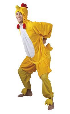 B88004 gelb Kinder Junge Mädchen Damen Herren Huhn Overall-Kostüm - 5