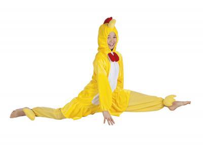 B88004 gelb Kinder Junge Mädchen Damen Herren Huhn Overall-Kostüm - 6