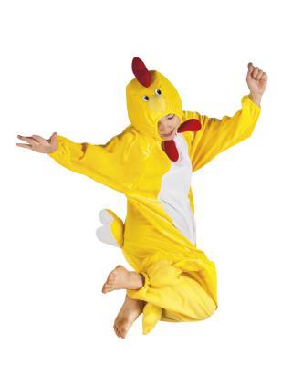 B88004 gelb Kinder Junge Mädchen Damen Herren Huhn Overall-Kostüm - 7