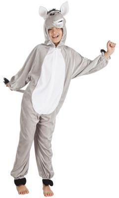 B88010 Kinder Damen Herren Esel Overall-Kostüm - 1