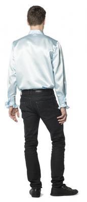 L330033O hell-blau Herren Rüschenhemd Discohemd - 1