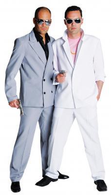 M210252 grau Herren Miami Vice Anzug-Kostüm Bodyguard - 1