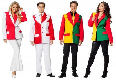 L3302570 rot-weiß Herren Sakko Jacke Blazer - 2