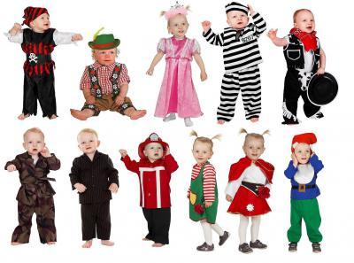 W3024 schwarz-rot Piraten-Kostüm Baby-Kleinkinderkostüm - 1