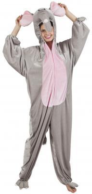 B88030 grau-rosa Kinder Junge Mädchen Damen Herren Elefanten Kostüm - 2