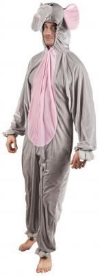 B88030 grau-rosa Kinder Junge Mädchen Damen Herren Elefanten Kostüm - 3