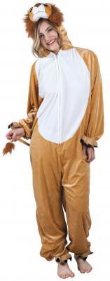 B88020 beige-weiß Kinder Junge Mädchen Damen Herren Löwen Kostüm - 2
