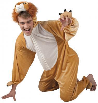 B88020 beige-weiß Kinder Junge Mädchen Damen Herren Löwen Kostüm - 3