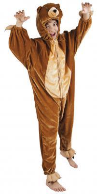 B88016 braun Kinder Junge Mädchen Damen Herren Bären Kostüm - 1