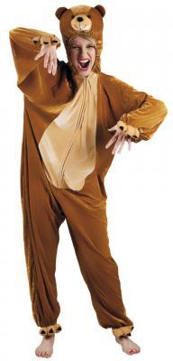 B88016 braun Kinder Junge Mädchen Damen Herren Bären Kostüm - 2