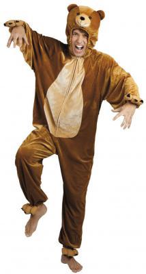 B88016 braun Kinder Junge Mädchen Damen Herren Bären Kostüm - 3