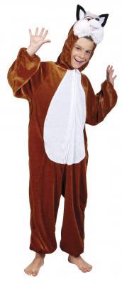 B88054-A braun-weiß Kinder Junge Mädchen Damen Herren Fuchs Kostüm - 1