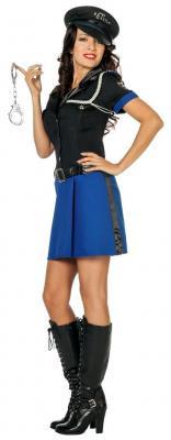 L3201230 Polizistin schwarz-blau Damenkostüm - 1