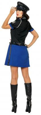 L3201230 Polizistin schwarz-blau Damenkostüm - 2