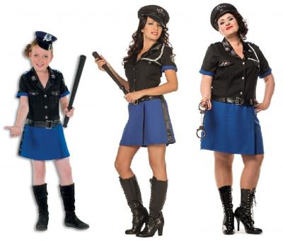 L3201230 Polizistin schwarz-blau Damenkostüm - 3