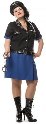 L3201230 Polizistin schwarz-blau Damenkostüm - 4