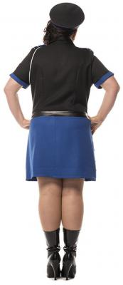 L3201230 Polizistin schwarz-blau Damenkostüm - 5