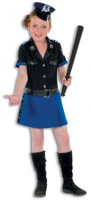L3201230 Polizistin schwarz-blau Damenkostüm - 6