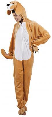 B88050 braun Kinder Mädchen Damen Herren Hunde Kostüm Overall - 1