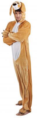 B88050 braun Kinder Mädchen Damen Herren Hunde Kostüm Overall - 2